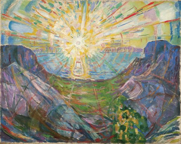 The Sun 1910–13 Oil on canvas 162 x 205 Munch Museum © Munch Museum/Munch-EllingsendGroup/DACS 2012