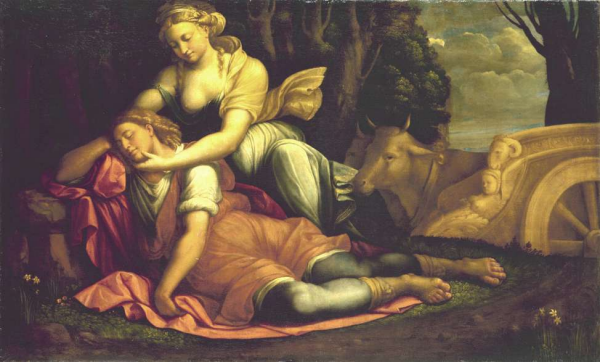 Image result for sleep in renaissance painting