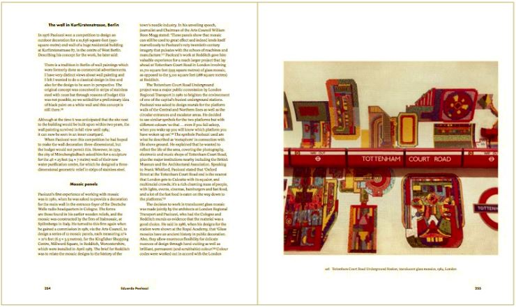 Front and back cover showing BASH, 1971, Screen print, 85 x 70 cm. Double page spread showing detail of Paolozzi's neo-Byzantine fantasy.