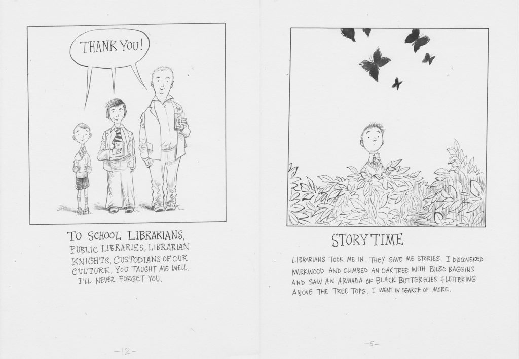 From 'Life Changing Books or Librarians I have Loved...A Love Letter' by Chris Riddell