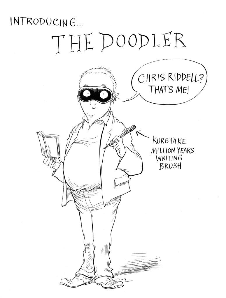 Chris' self-portrait as the new Children's Laureate