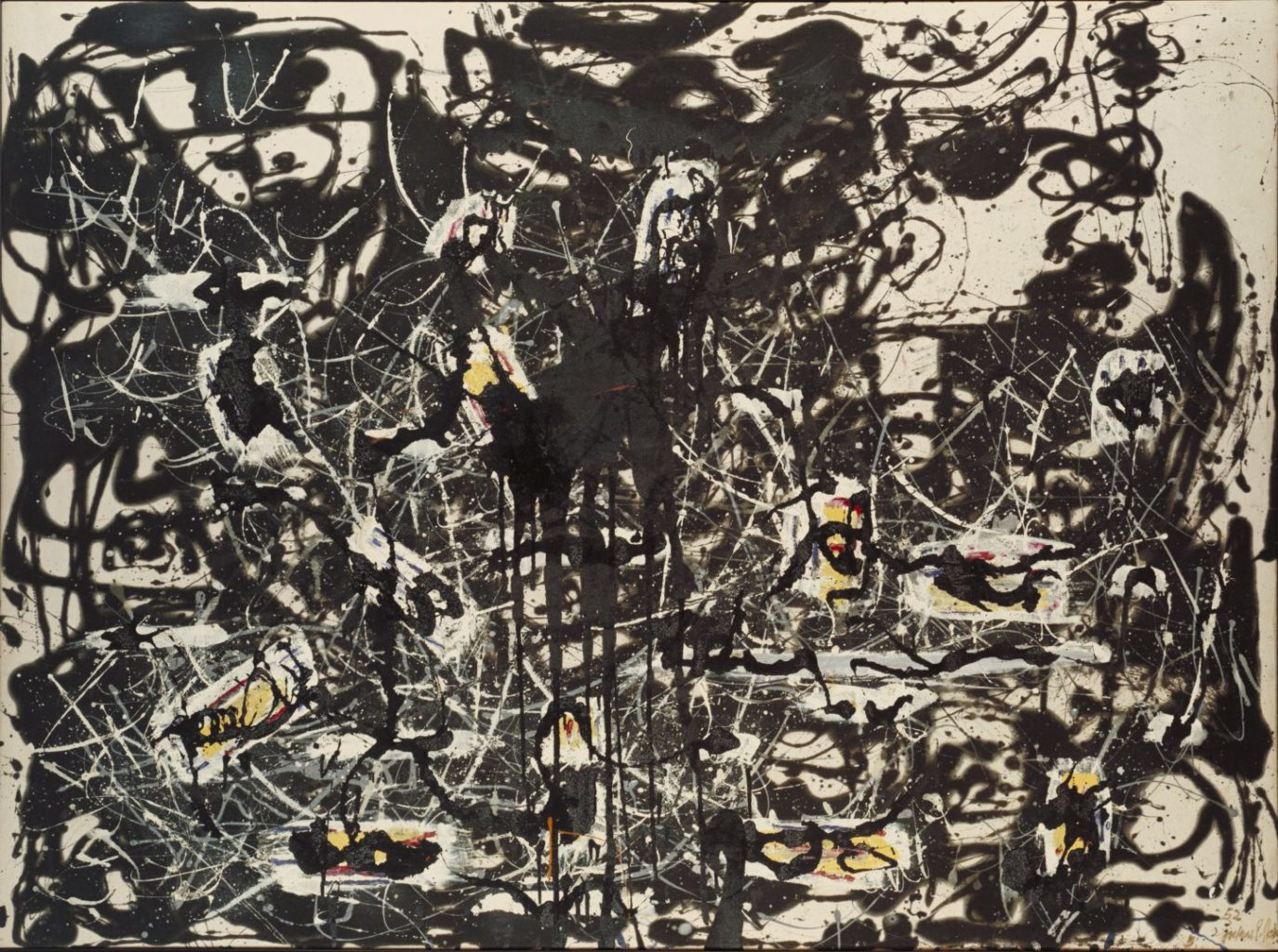 jackson pollock blind spots the london magazine jackson pollock yellow islands 1952 acirccopy the pollock krasner foundation ars ny and