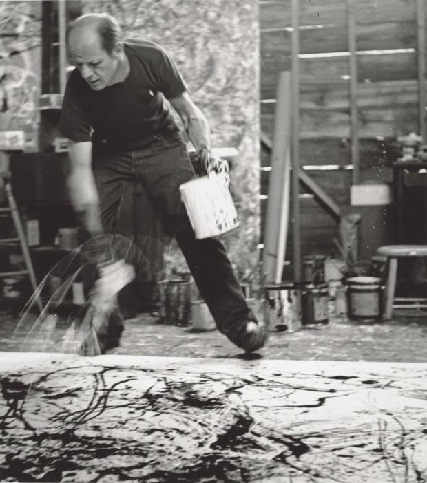Jackson Pollock, 1950 Photograph by Hans Namuth Courtesy Center for Creative Photography, University of Arizona © 1991 Hans Namuth Estate