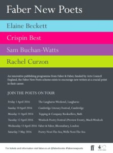 Faber New Poets April 2016 TOUR