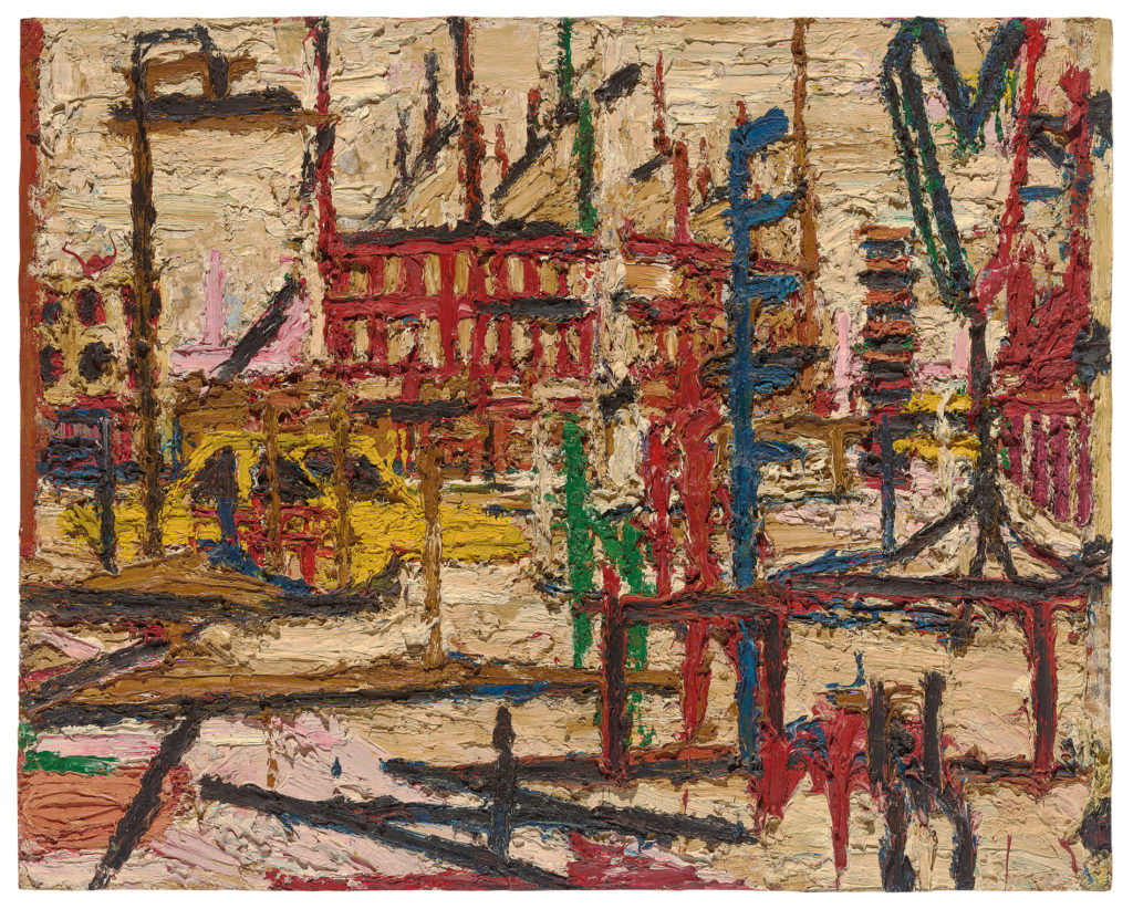 Mornington Cresent, 1965 © Frank Auerbach courtesy of Marlborough Fine Art