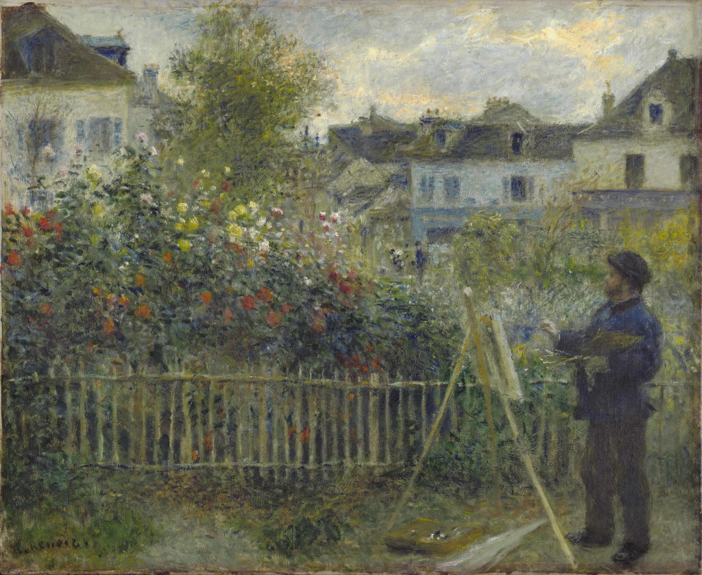 Auguste Renoir, Monet Painting in His Garden at Argenteuil, 1873 Oil on canvas, 46.7 x 59.7 cm Wadsworth Atheneum Museum of Art, Hartford, CT. Bequest of Anne Parrish Titzell, 1957.614 Photo (c) Wadsworth Atheneum Museum of Art, Hartford, CT