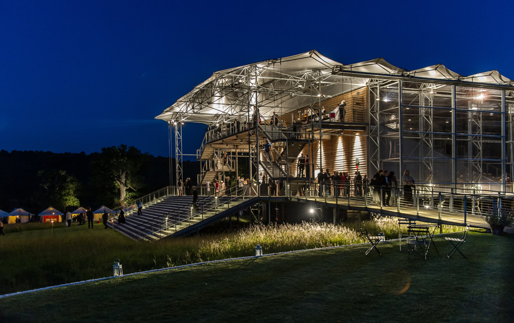 GARSINGTON OPERA PAVILION AT NIGHT Photo: Clive Barda