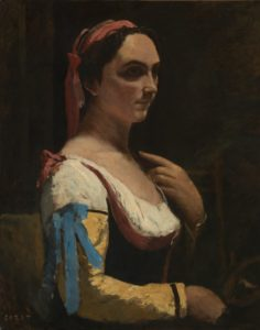 Jean-Baptiste-Camille Corot, Italian Woman, c. 1870