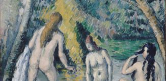 Paul Cezanne, Three Bathers, 1879-1882. Reproduction courtesy of The National Gallery