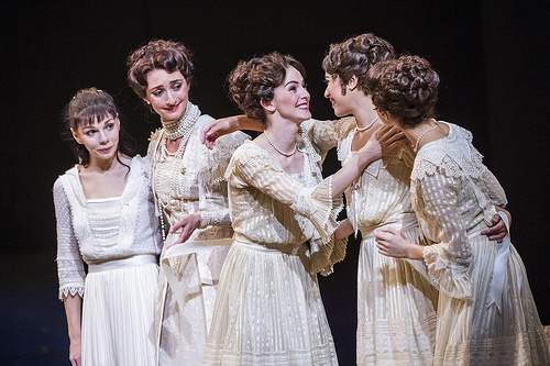 Natalia Osipova as Anastasia, Christina Arestis as the Tsarina, Olivia Cowley as Olga, Beatriz Stix-Brunell as Tatiana and Yasmine Naghdi as Maria in Anastasia, The Royal Ballet © 2016 ROH. Photograph by Tristram Kenton