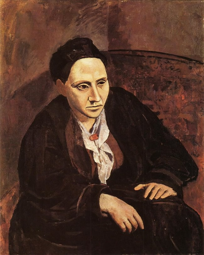 Portrait of Gertrude Stein by Pablo Picasso 1905- 06