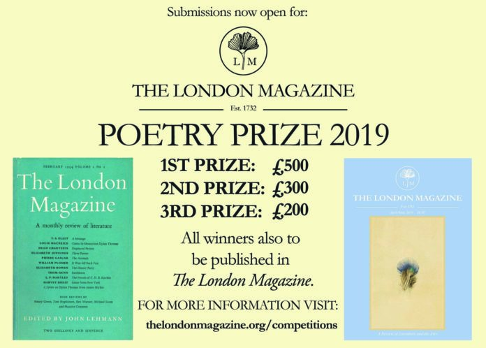 The London Magazine Poetry Prize 2019 - The London Magazine